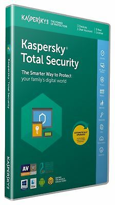 Kaspersky Total Security 2019 | 3 Devices | 1 Year | PC-Mac-Android | Activation
