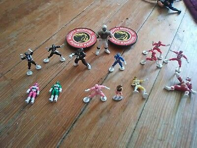 LOT Power Rangers Toy COLLECTOR'S SETS Micro Machines RED BLACK BLUE YELLOW PINK