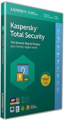 Kaspersky Total Security 2019 | 5 Devices | 1 Year | PC-Mac-Android | Activation