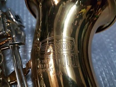 1988 SELMER BUNDY II TENOR SAX / SAXOPHONE - made in USA