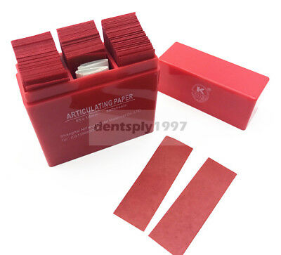 300 Sheets Dental Articulating Paper Red Strips Soft Thin Dental Lab Teeth Care