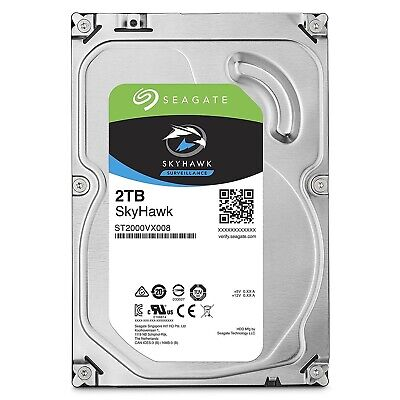 "Seagate SkyHawk 2TB 3.5"" SATA Internal Surveillance Hard Drive HDD 5900RPM 64MB"