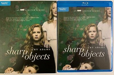 Hbo Sharp Objects Blu Ray 2 Disc Set Limited Series + Slipcover Sleeve Amy Adams