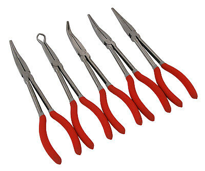 """CT3007 5pc 11"""" Long Reach Straight, 45 & 90 Degree, Offset & 1/2"""" Hose Pliers"""