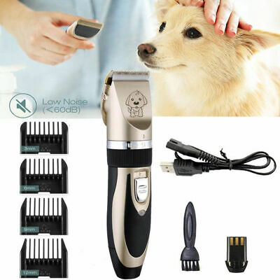 Electric Pet Dog Cat Hair Razor Low-noise Animal Grooming Clipper Trimmer Shaver