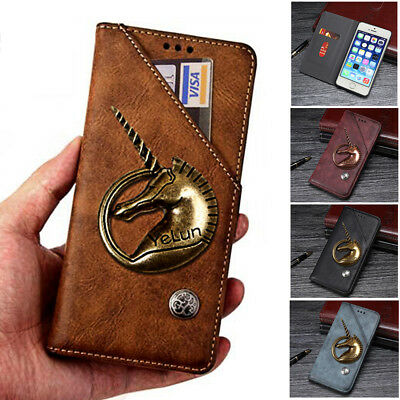 3D Unicorn Wallet Flip Magnetic Leather Phone Case Cover For ZTE Blade A530 A606