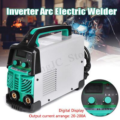 220V Handheld LCD MMA Welder ARC Durable Welding Inverter Machine Kit EU Plug