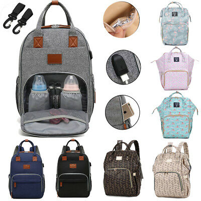 Baby Nappy Bag Diaper Changing Backpack Multifunctional Yummy Mummy Rucksack New