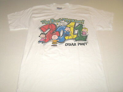 Cedar Point Best Day Ever Peanuts Gang Charlie Brown Lucy Snoopy T-Shirt New! SM