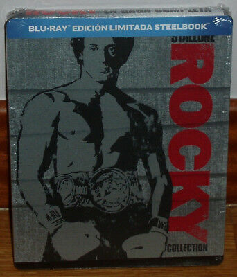 Rocky The Collection Complete 6 Blu-Ray New Steelbook Drama (Unopened) R2
