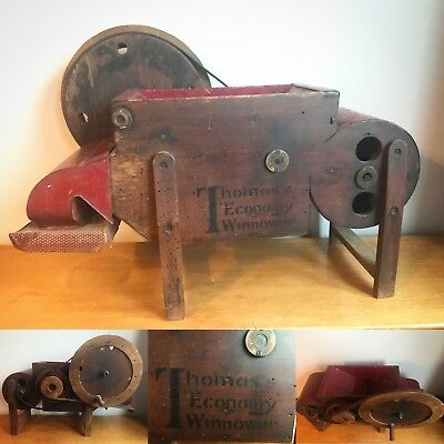 Antique Salesman Sample, Thomas's Economy Winnower Agricultural Grain Machine,