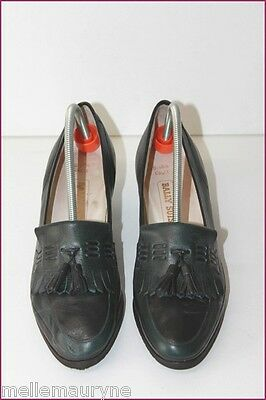 BALLY SUISSE Court shoes Type Mocassin Leather Navy and green T 6 US/37.5