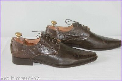 Derbies Man Sharp/ pointed COLERIDGE Brown Leather T 42 VERY GOOD CONDITION