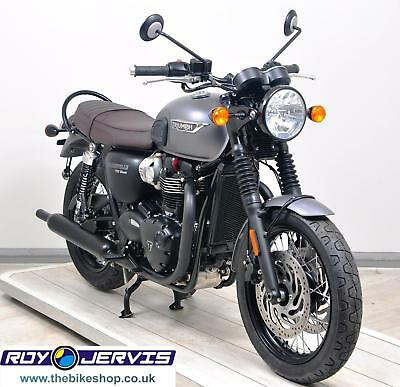2016 16 Triumph Bonneville T120 Black 1200cc Naked Grey One Owner