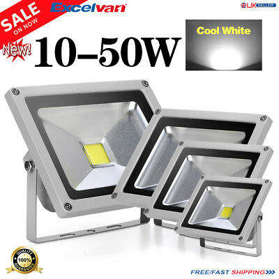 Brightness SMD LED Floodlight 10/20/30/50W Security Flood Light Cool White IP65