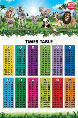 Animal Club - Times Tables - Kids Educational Poster #1I