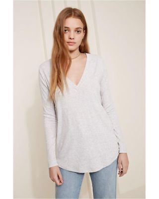 bc49c3c200d THE FIFTH LABEL Lila Long Sleeve Womens Grey Rib knit Top Size M RRP  49