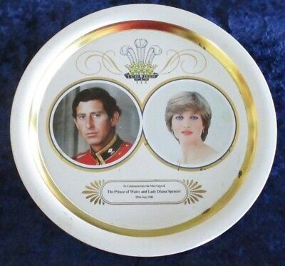 Lady Diana Spencer and Prince Charles - Royal Wedding Commemorative Tray - 1981