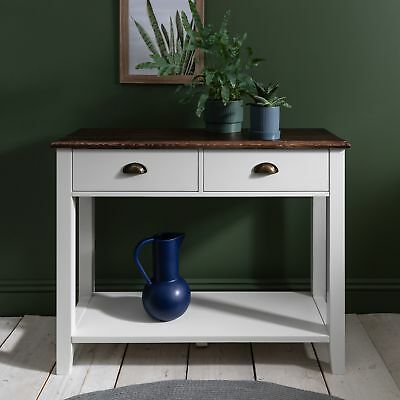 Chatsworth Console Table White Grey with Drawers