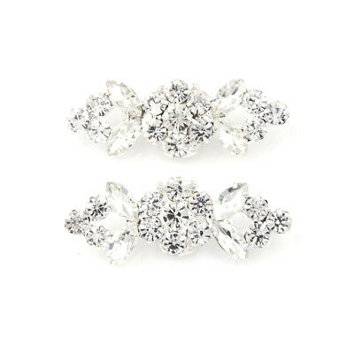 1Pair Shoes Clips Strass Crystal Flower Buckle Bridal Wedding Decor WF