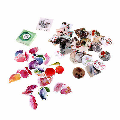 40pcs watercolor ink paper sticker diy diary decor for album scrapbooking TO