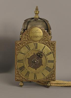 MINIATURE LANTERN CLOCK WITH ALARM - John Faver , London
