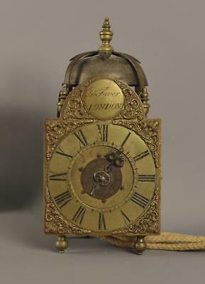 MINIATURE STRIKING LANTERN CLOCK  - John Faver , London