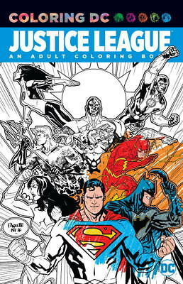 Justice League DC an Adult Coloring Book (2017, Paperback)