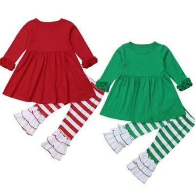 S-685G 2PC Green/White Striped Outfit (Ready to Ship from Ohio )(Free Shipping)