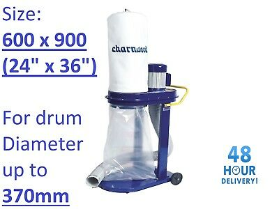 Dust Waste Extractor Collection Bags 24x36 Polythene Charnwood Fox SIP Scheppach