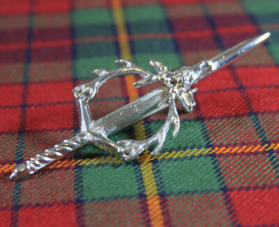 "CHOICE OF SCOTTISH DESIGNS NEW SCOTTISH HIGHLAND PREMIUM STEEL 4/"" KILT PIN"