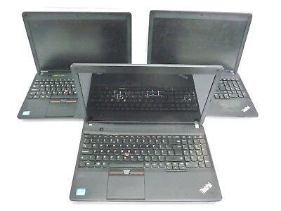"Job Lot 3x Lenovo ThinkPad E530c 15.6"" Laptops Core i3 3110M *Spares or Repair*"