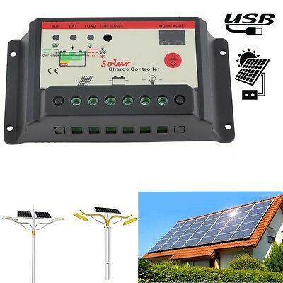 Solar Regulator 30A Solar Charge Controller PWM For Solar Panel Battery GT