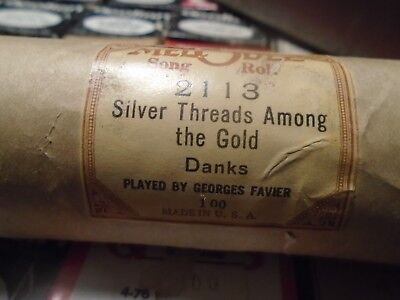 Melodee Player Piano Roll Silver Threads Among the Gold by Danks