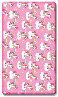 2 x 100% Cotton Soft Beautiful Unicorn Design Cot Fitted sheets 120 x 60 cm