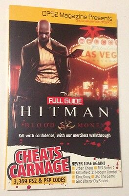 HITMAN BLOOD MONEY FULL GUIDE PLUS 3369 PS2 & PSP CODES Book OPS2 #74 Magazine
