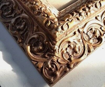 """Vtg Ornate Picture Frame Faux Wood Resin Home Interiors Fits 8x10""""Painting"""
