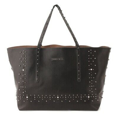5ca764b14de6 Authentic Jimmy Choo Pimlico Rock Studded Leather Tote Black Grade Ab Used  - Hp