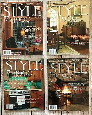 Lot 4 Style 1900 Magazines Qtly Journal 2004 Arts & Crafts Georg Jensen Stickley