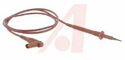 Mueller 4 mm Test lead with Spring Test Probe Male, 1kV, 20A, 1m Lead Length