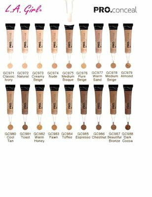LA L.A. Girl USA PRO CONCEAL HD HIGH DEFINITION CONCEALER GREAT COVERAGE 0.28oz