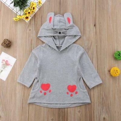 S-635 Gray Cat Paw Top with Hood (Ready to Ship From Ohio) (Free Shipping)