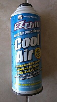 Interdynamics 14 oz EZ Chill Refill Refrigerant and Oil with Leak Sealer R-134a