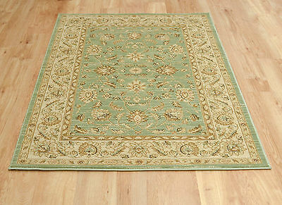 Small Medium Extra Large Rug Persian Carpet Traditional Pattern New Soft Green