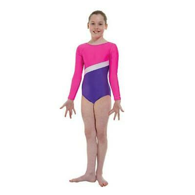 Pour Filles Gymnastique Justaucorps - Gym2 Rose - Tappers   Pointers 4-12  Yrs 1365111398c