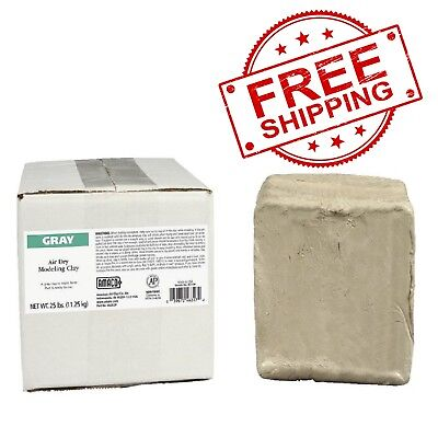 AMACO Air-Dry Modeling Clay, 25 lb, Gray-FREE SHIPPING