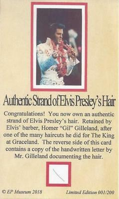 Elvis Presley Authentic Hair Strand Homer Gilleland CERTIFIED MUSEUM PROVENANCE