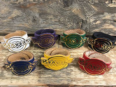 LEATHER SCOUT WOGGLE - BEAVER Scout Leather Woggle (Choice of Colours)