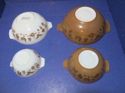 4 Vintage Pyrex Early Americana Cinderella Nesting Bowls Baking Cooking Home