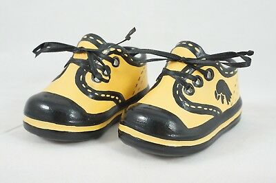 Iowa Hawkeye Alumni Ceramic Baby Shoes Bootie Keepsake Newborn Baptism